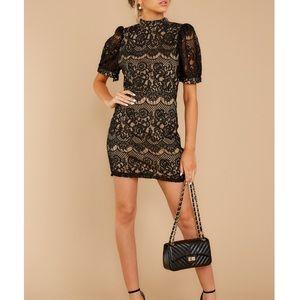 Idea of you black lace dress
